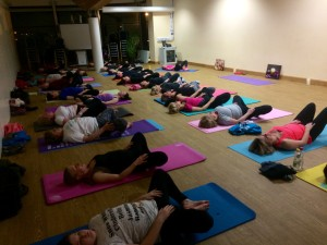Yoga light restorative mindful practice
